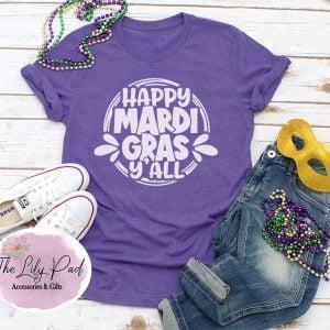 Happy Mardi Gras Y'all Graphic Tee