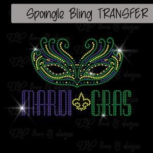 Fleur de Lis Mardi Gras Mask -SPANGLE