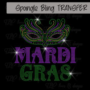 Mardi Gras with Mask-SPANGLE