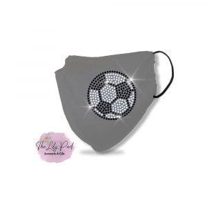 Soccer Ball Spangle Bling Mask