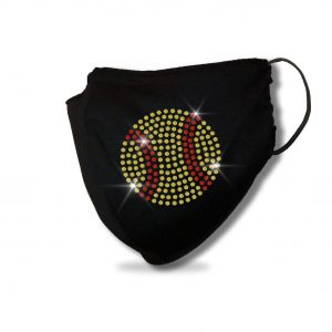 Softball Ball Spangle Bling Mask