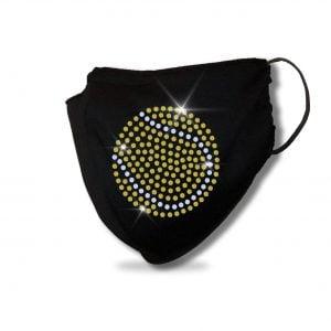 Tennis Ball Spangle Bling Mask