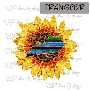 Sunflower Funky Serape KY -Transfer