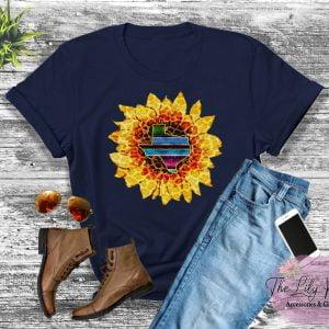 Sunflower Texas Serape/Cheetah Graphic Tee