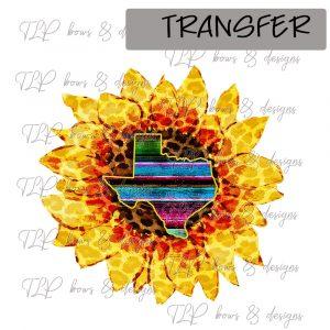 Sunflower Funky Serape Texas -Transfer