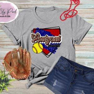 LadyCat HomePlate Softball Cheetah Graphic Tee