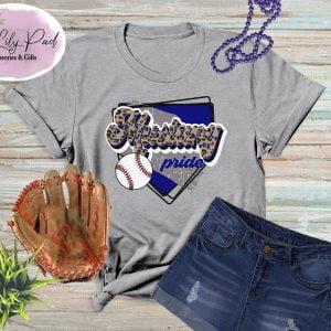 Mustang HomePlate Baseball Cheetah Graphic Tee