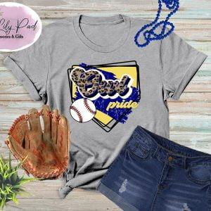 Owl HomePlate Baseball Cheetah Graphic Tee