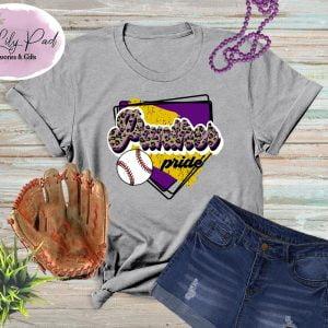 Panther HomePlate Baseball Cheetah Graphic Tee