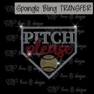 Pitch Please Home Plate Softball -SPANGLE