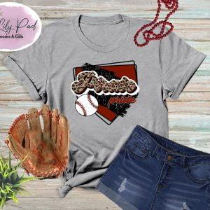 Pirate HomePlate Baseball Cheetah Graphic Tee