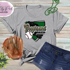 Greyhound HomePlate Baseball Cheetah Graphic Tee