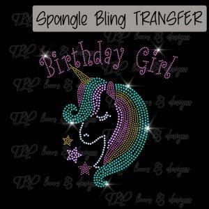 Unicorn Birthday Girl Youth Sized -SPANGLE
