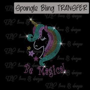 Unicorn Be Magical Youth Sized -SPANGLE