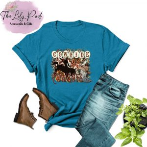 Cowhide and Cowboys Sapphire Graphic Tee