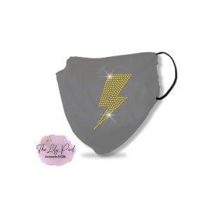 Lightning Bolt Spangle Bling Mask