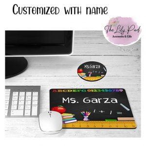 ABC Custom Teacher Mousepad Coaster Desk Set