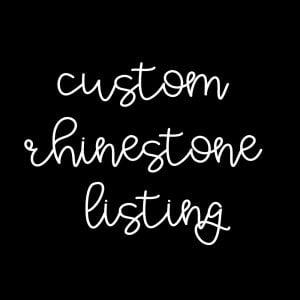 Custom Rhinestone Decal- Deana