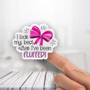 I look my best after Fluffed Bow Stickers