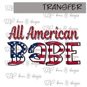 All American Babe-Transfer