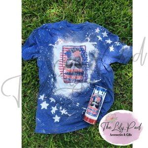Unmasked Unmuzzled Unvaccinated Unafraid Mom Bun Bleached Distressed Shirt