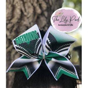 School Color and Mascot Custom Glitter Rhinestone Cheer Bow