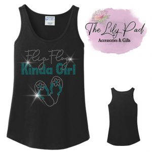Flip Flop Kinda Girl Spangle Bling Muscle Tank