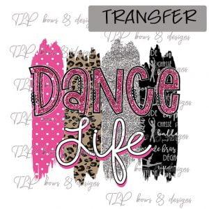 Dance Life Brush Pink Black-Transfer