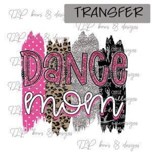 Dance Mom Brush Pink Black-Transfer