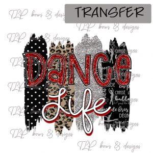 Dance Life Brush Red Black-Transfer