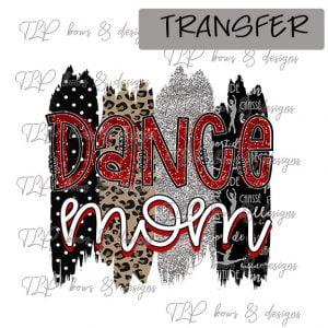 Dance Mom Brush Red Black-Transfer