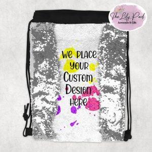 Custom Sequin Drawstring Bag