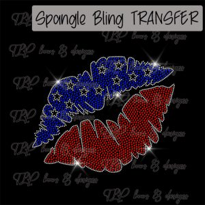 Stars Red White Blue Lips -SPANGLE