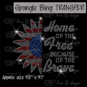 Home of Free Sunflower  -SPANGLE