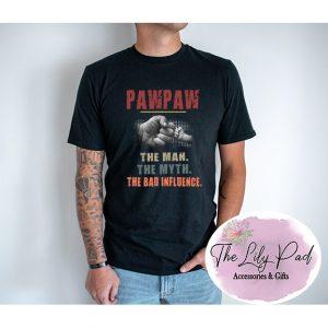 PawPaw The Bad Influence Graphic Tee