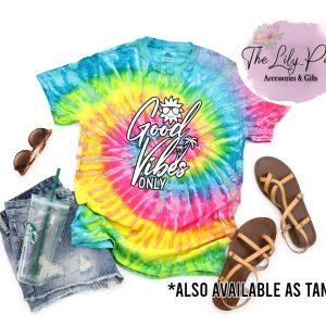 Good Vibes Summer Tie Dye graphic tee