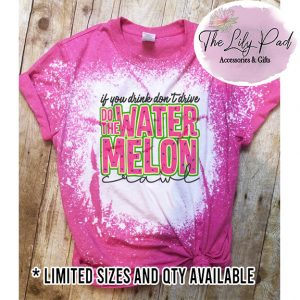 Watermelon CrawlDistressed Graphic Tee-Limited Qty