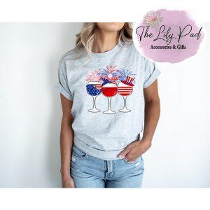 Patriotic Wine Trio Graphic Tee