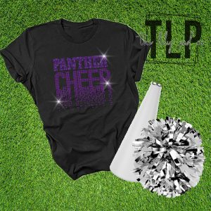 Panther Scatter Cheer Spangle Bling Shirt