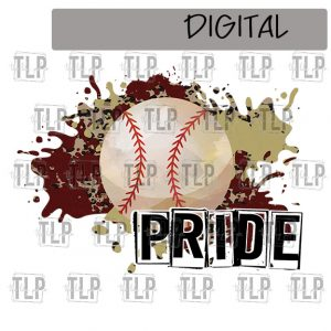 Maroon V Gold Cheetah Splatter Baseball Pride Sublimation Printable File