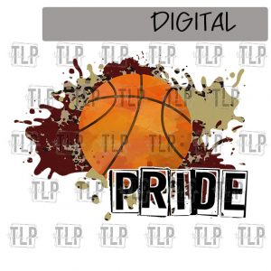 Maroon V Gold Cheetah Splatter Basketball Pride Sublimation Printable File