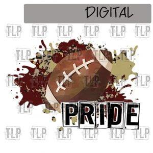 Maroon V Gold Cheetah Splatter Football Pride Sublimation Printable File
