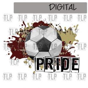 Maroon V Gold Cheetah Splatter Soccer Pride Sublimation Printable File
