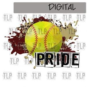 Maroon V Gold Cheetah Splatter Softball Pride Sublimation Printable File