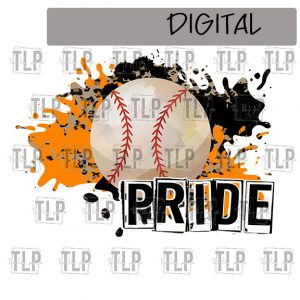 Orange Black Cheetah Splatter Baseball Pride Sublimation Printable File