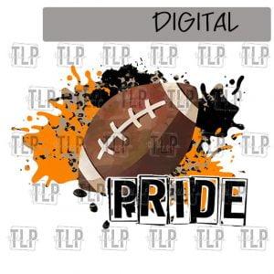 Orange Black Cheetah Splatter Football Pride Sublimation Printable File