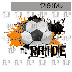 Orange Black Cheetah Splatter Soccer Pride Sublimation Printable File