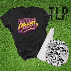 Panthers Cheer Groovy Graphic Tee