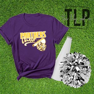 Panthers Cheer Pom and Mega Graphic Tee