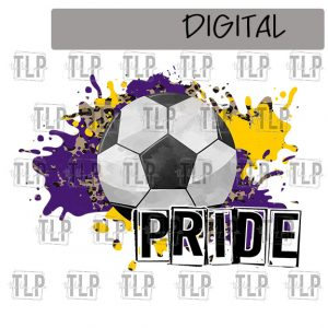 Purple Yellow Gold Cheetah Splatter Soccer Pride Sublimation Printable File